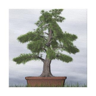 Temple juniper tree bonsai - 3D render Canvas Print