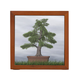 Temple juniper tree bonsai - 3D render Desk Organizer