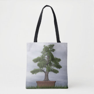 Temple juniper tree bonsai - 3D render Tote Bag