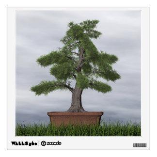 Temple juniper tree bonsai - 3D render Wall Decal