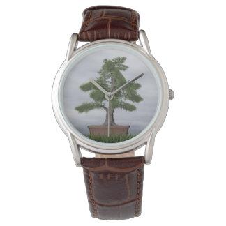Temple juniper tree bonsai - 3D render Watch