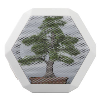 Temple juniper tree bonsai - 3D render White Bluetooth Speaker