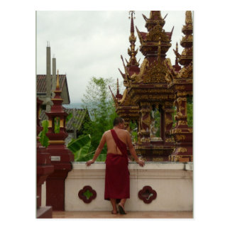 Temple Monk Postcard