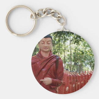 Temple of 500 Arahants, Sri Lanka Basic Round Button Keychain