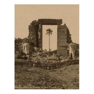 Temple of Amenophis, Egypt circa 1867 Postcard