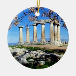 Temple of Apollo – Corinth Ceramic Ornament