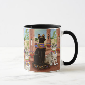 Temple of Bastet Egypt Bast Goddess Cat Art Mug