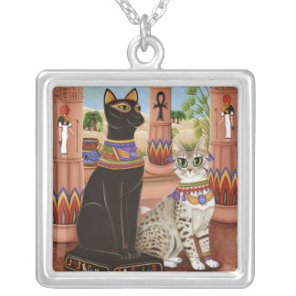 Temple of Bastet Egypt Bast Goddess Cat Necklace