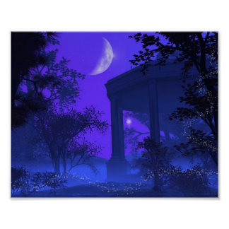 Temple of Diana in the Moonlight Poster