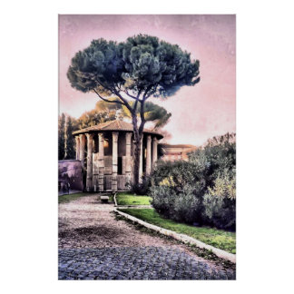Temple of Hercules Victor Poster