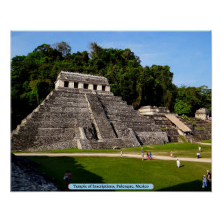 Temple of Inscriptions, Palenque, Mexico Poster