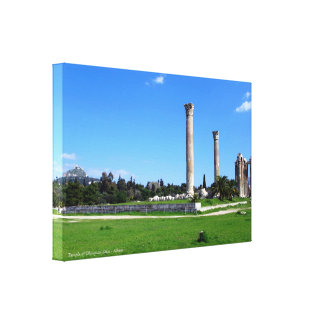 Temple of Olympian Zeus - Athens Canvas Print