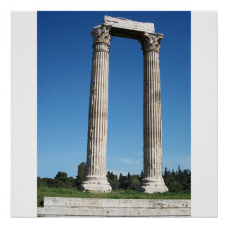 Temple of Olympian Zeus (Athens)-Gate_01 Poster