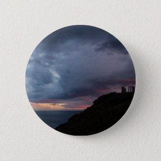 Temple of Poseidon 2 Inch Round Button