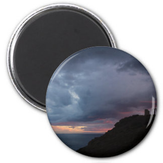 Temple of Poseidon 2 Inch Round Magnet