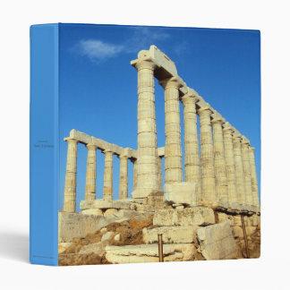 Temple of Poseidon - Sounio 3 Ring Binder