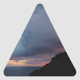 Temple of Poseidon Triangle Sticker