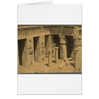 Temple of Ramses III. Egypt circa 1870 Card