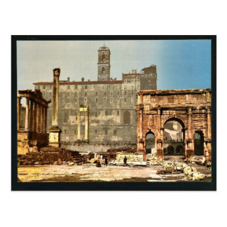 Temple of Saturn and Triumphal Arch of Septimus Se Postcard