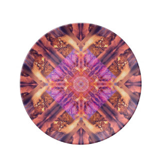 Temple of the Sky God Mandala Porcelain Plates