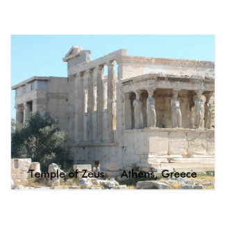 Temple of Zeus Postcard