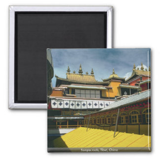 Temple roofs, Tibet, China Magnet
