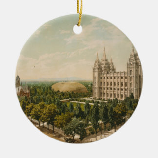 Temple Square Salt Lake City Utah in 1899 Ceramic Ornament
