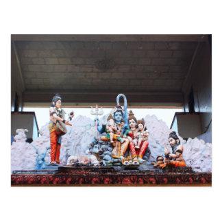 Temple statues postcard