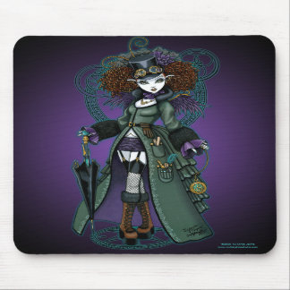 Temple Steampunk Time Traveler Vampire Mousepad
