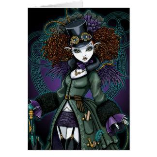 Temple Steampunk Vampire Angel Postcard