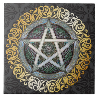 Temple Stone Medieval Witchcraft Ritual Alter Tile