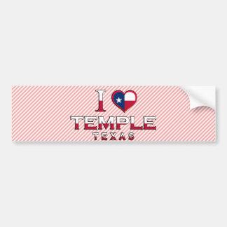 Temple, Texas Bumper Sticker