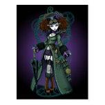 Temple Victorian Steampunk Vampire Angel Postcard