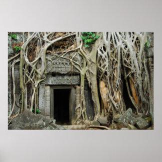 temples angkor poster