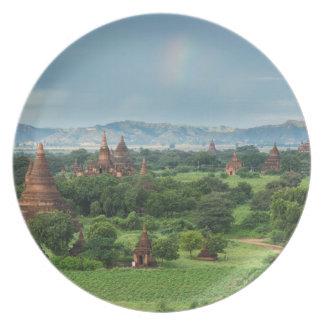 Temples in Bagan, Myanmar Plate