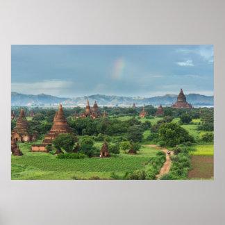 Temples in Bagan, Myanmar Poster