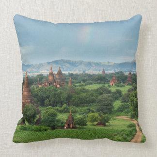 Temples in Bagan, Myanmar Throw Pillow
