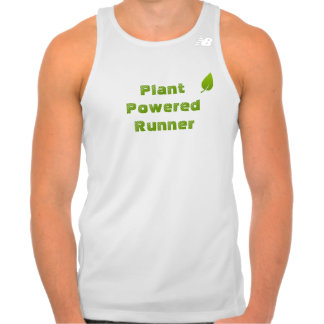 Tempo Running Top, White - Plant Powered Runner Tank Top