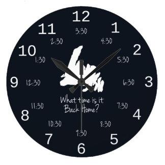 Temps à la maison arrière - édition de MST Grande Horloge Ronde