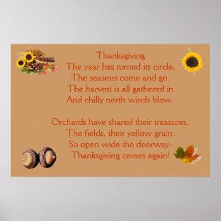 Temps de thanksgiving encore affiche