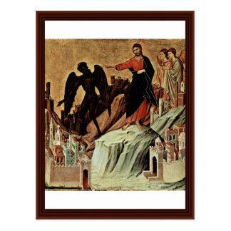 Temptation Of Christ On The Mountain Postcard