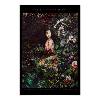 Temptation of Eve in the Garden of Eden Poster