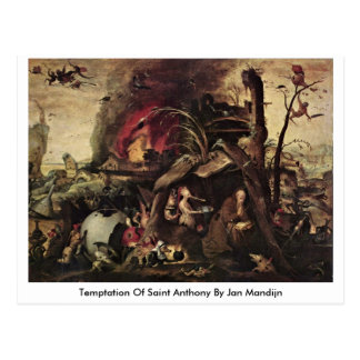 Temptation Of Saint Anthony By Jan Mandijn Postcard
