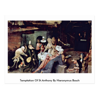 Temptation Of St.Anthony By Hieronymus Bosch Postcard