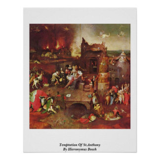 Temptation Of St.Anthony By Hieronymus Bosch Poster