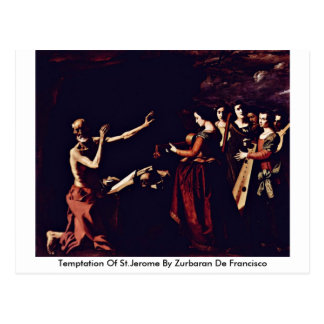 Temptation Of St.Jerome By Zurbaran De Francisco Postcard