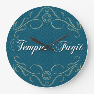 Tempus Fugit Round Clock