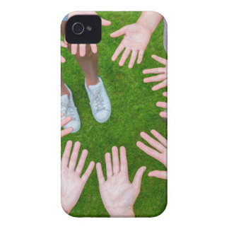 Ten arms of children in circle with palms of hands Case-Mate iPhone 4 case