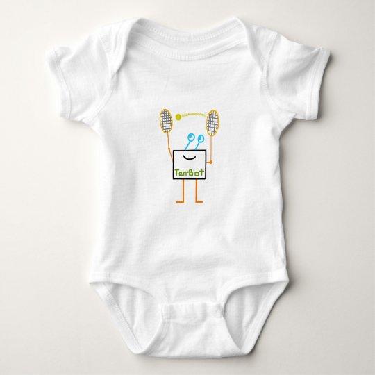 Ten Bot on white Baby Bodysuit