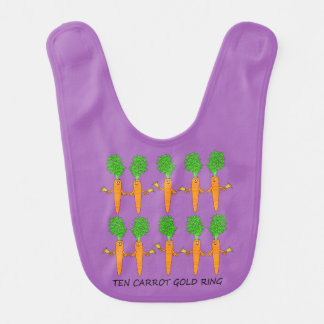 Ten Carrot Gold Ring Bib